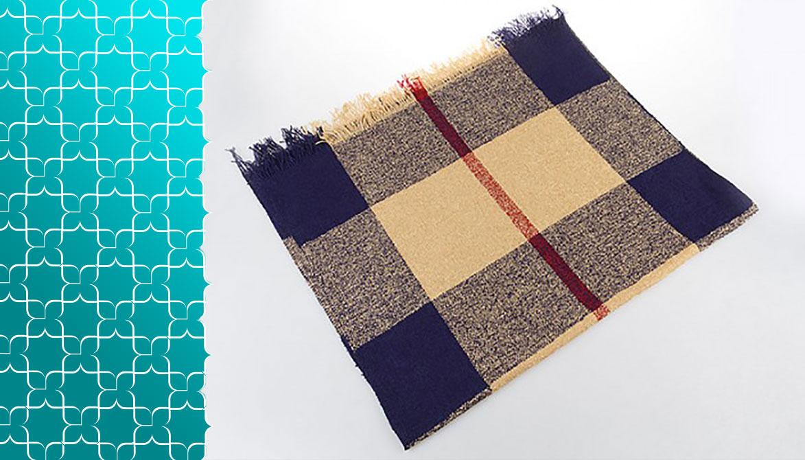 بافت انواع شال و روسری های زمستانی